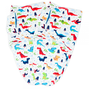 Callowesse Newborn Baby Swaddle – Pack of 2 – Dino Land