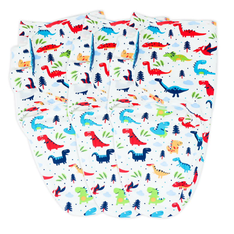 Callowesse Newborn Baby Swaddle – Pack of 3 – Dino Land