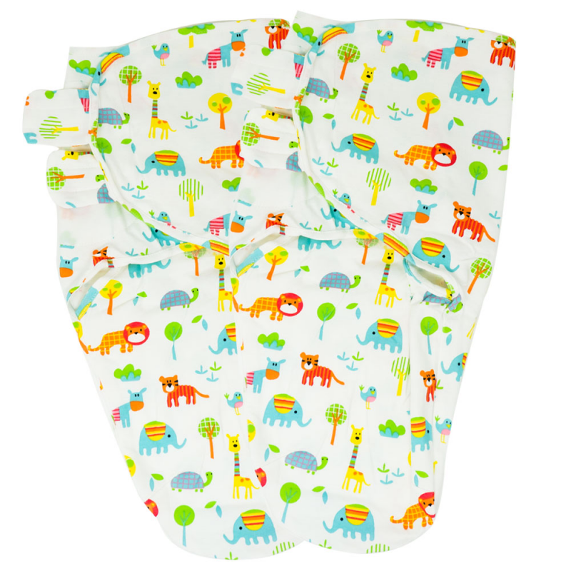 Callowesse Newborn Baby Swaddle – Pack of 2 – Exotic Kingdom