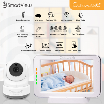 Callowesse SmartView HD Video Wi-Fi Baby Monitor