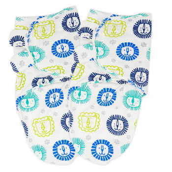 Callowesse Newborn Baby Swaddle – Pack of 2 – Little Lions