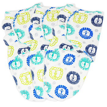 Callowesse Newborn Baby Swaddle – Pack of 3 – Little Lions