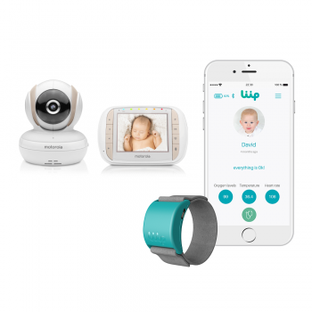Motorola MBP35XLC 3.5″ Video Baby Monitor & Liip Smart Baby Monitor Bracelet
