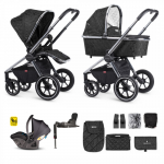 Venicci Tinum Bundle 3 in 1 Travel System with iSize Car Seat and Isofix Base - Camo Black