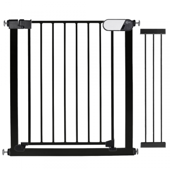 Callowesse Kemble Pressure Fit Safety Gate – 103cm-124cm – Black (2x 21cm Extensions Included)