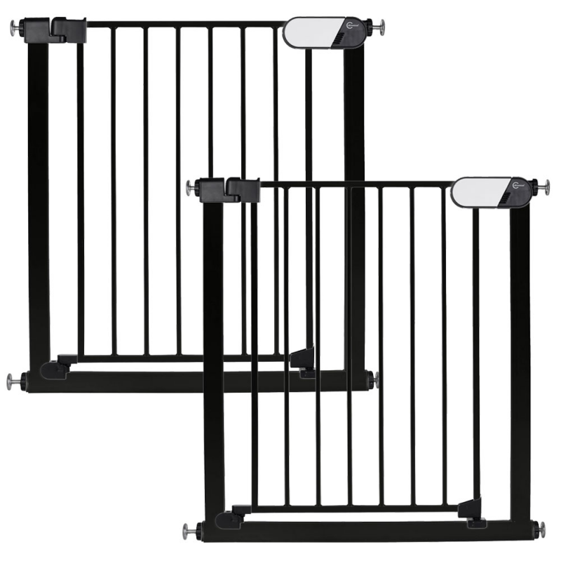 Callowesse Kemble Pressure Fit Safety Gate – 75cm – 82cm – Black – Pack of 2