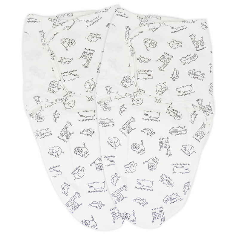 Callowesse Newborn Baby Bundle – Apprise Breathing Monitor, RoomView Video Monitor, Pack of Two Monochrome Jungle Swaddles and Elephant Changing Mat