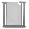 Callowesse Metal Mesh Stair Gate 75-82cm – Pressure Fit Steel Mesh Safety Gate – Ash