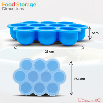 Callowesse Silicone Food Storage- Dimensions
