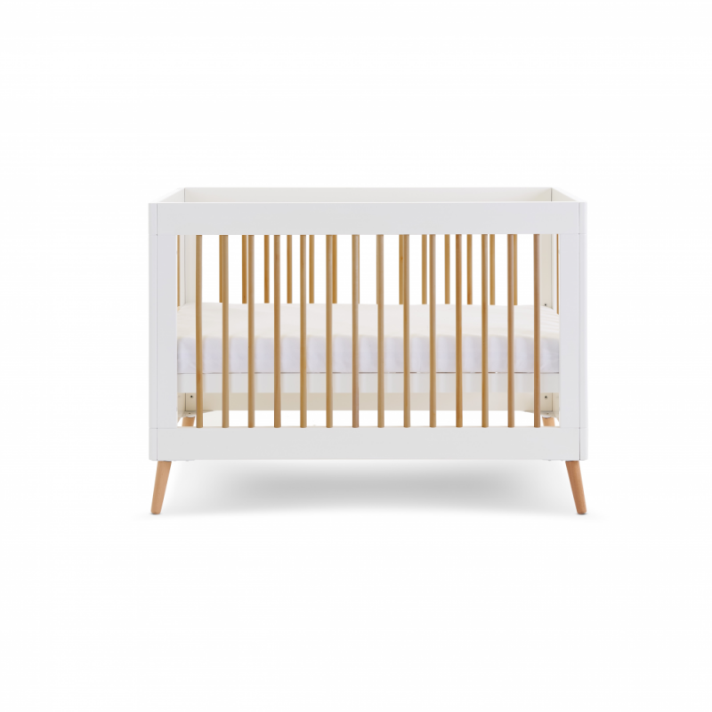 Obaby Maya Mini Cot Bed Standard Side View Hight Adjusted