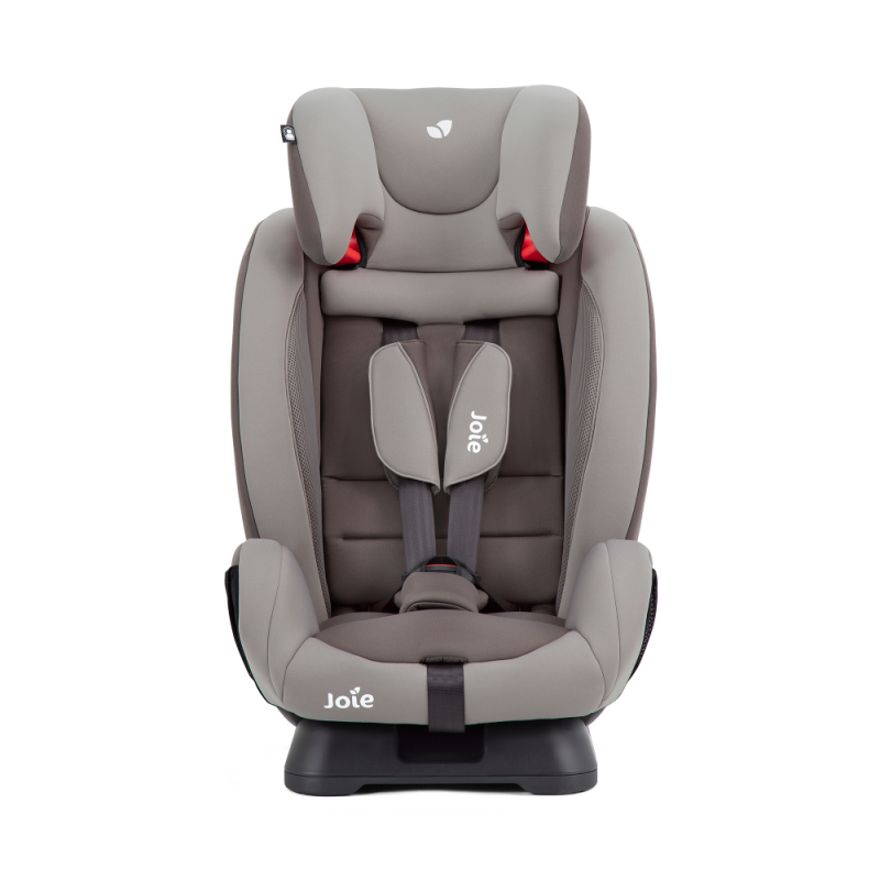 Joie Fortifi Group 1/2/3 Car Seat- Dark Pewter - Child Seat Headrest Front View