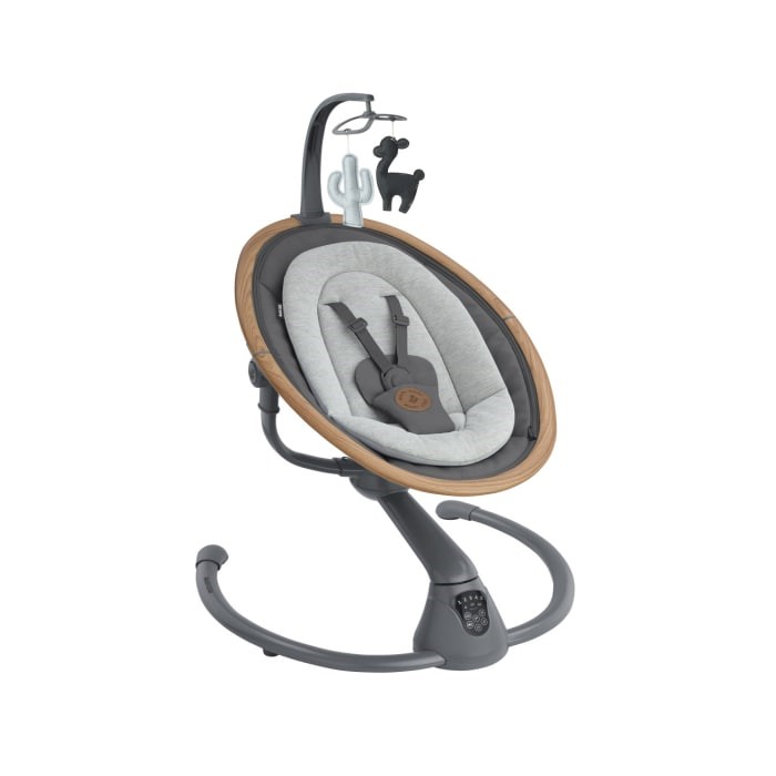 Maxi-cosi Cassia Rocker- Essential Graphite- Left Side View