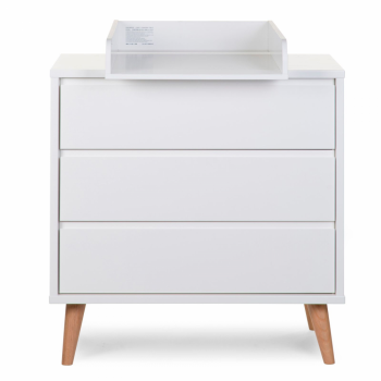 Childhome Retro Rio 3 Drawer Chest and Changing Unit - White