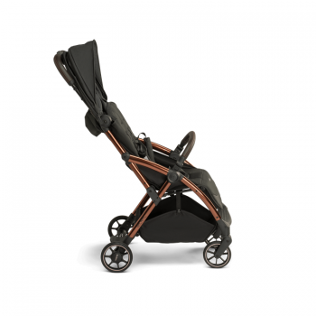 Laclerc Influencer Stroller - Black Brown- Canopy In
