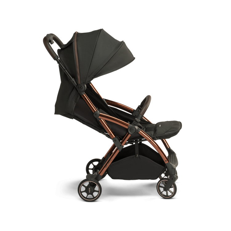 Laclerc Influencer Stroller - Black Brown - Reclinded