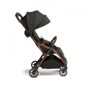 Laclerc Influencer Stroller - Black Brown - Side View