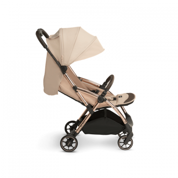 Laclerc Influencer Stroller - Sand Chocolate - Side Reclinded View