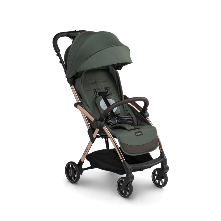Lelerc Influencer Stroller - Army Green - Angled View 2