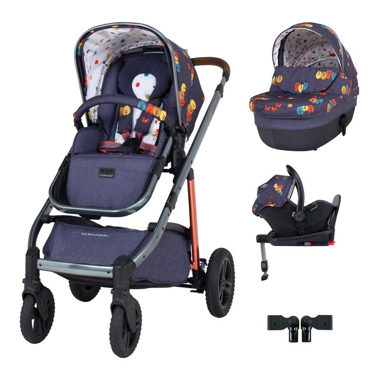 Cosatto Wow Continental i-Size Travel System Bundle (Incl. i-Size 0+ Car Seat & Base) - Fika Forest