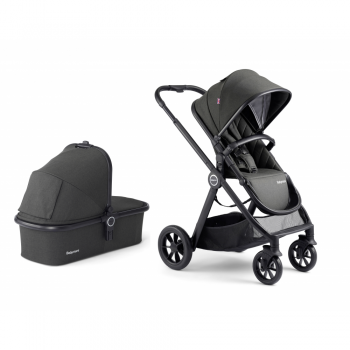 Babymore MeMore Pram & Pushchair 11 Piece - Black Espresso - Seat and Carry Cot