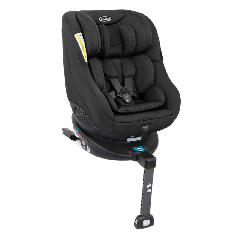 Graco Turn2Me ISOFIX Group 0+1 Spin Car Seat - Black - Angled View