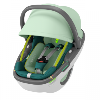 Maxi Cosi Coral 360 iSize Car Seat - Neo Green - Canopy
