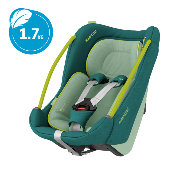 Maxi Cosi Coral 360 iSize Car Seat - Neo Green_ Carrier