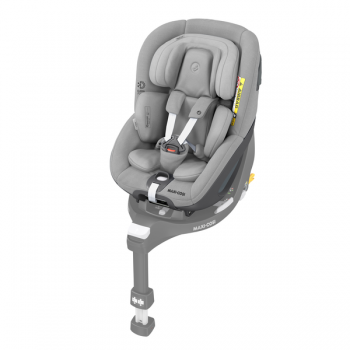 Maxi Cosi Pearl 360 i-Size Car Seat - Authentic Grey - Angled View