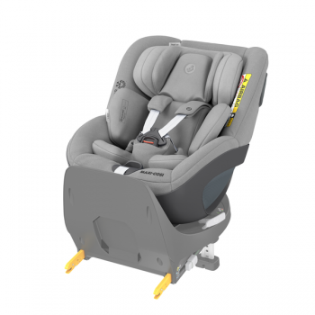 Maxi Cosi Pearl 360 i-Size Car Seat - Authentic Grey - Angled View - Base