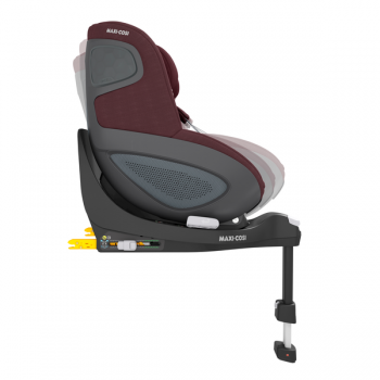Maxi Cosi Pearl 360 i-Size Car Seat - Authentic Red - Side View - Adjustable