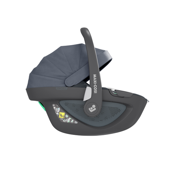 Maxi Cosi Pebble 360 i-Size Car Seat - Essential Graphite - Side View - Canopy