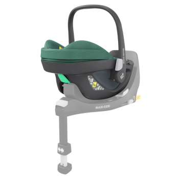 Maxi Cosi Pebble 360 i-Size Car Seat - Essential Green - Angled View - Base