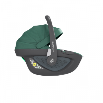 Maxi Cosi Pebble 360 i-Size Car Seat - Essential Green - Side View - Canopy