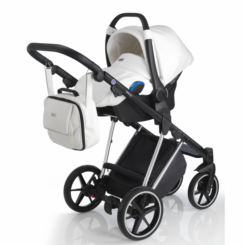 Mee-Go New Milano Special Edition Travel System - White Leatherette - Car Seat