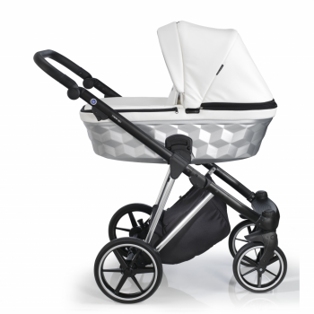 Mee-Go New Milano Special Edition Travel System - White Leatherette - Side Profile
