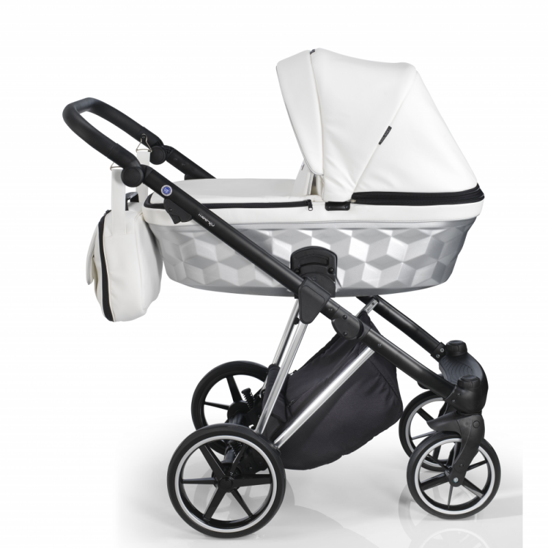 Mee-Go New Milano Special Edition Travel System - White Leatherette - Side View