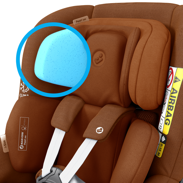 Pearl 360 i-Size Car Seat - Authentic Cognac - Features