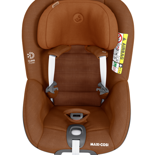 Pearl 360 i-Size Car Seat - Authentic Cognac - Front View