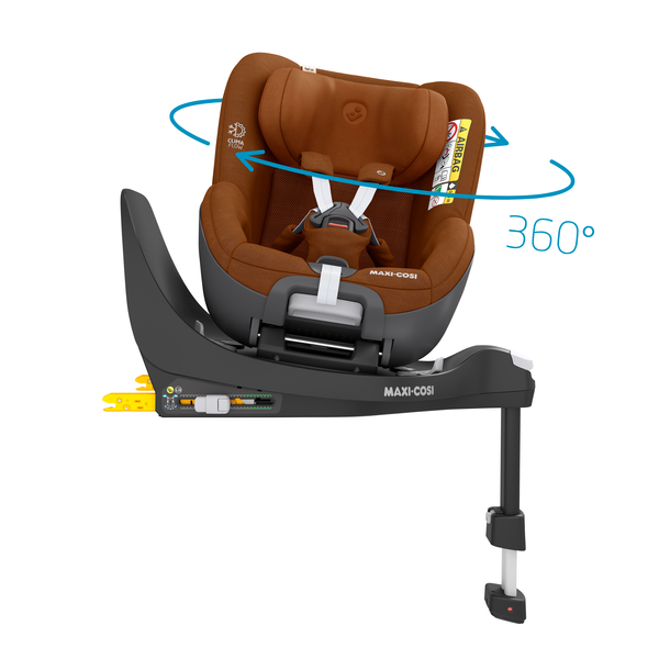 Pearl 360 i-Size Car Seat - Authentic Cognac - Rotating