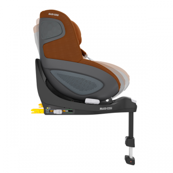Pearl 360 i-Size Car Seat - Authentic Cognac- Side View Adjustable