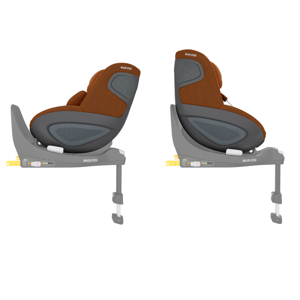Pearl 360 i-Size Car Seat - Authentic Cognac - Side View