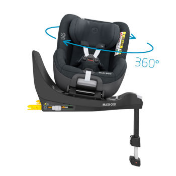 Pearl 360 i-Size Car Seat - Authentic Graphite - Rotating